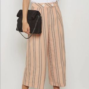 NWT Topshop Wide Leg Cropped Pants Trousers